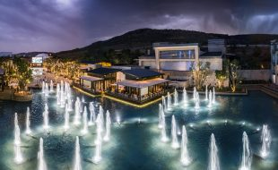 Silverstar Casino Fountains and Square At Night
