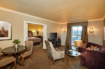 Living room view of elegant suite at Southern Sun The Cullinan