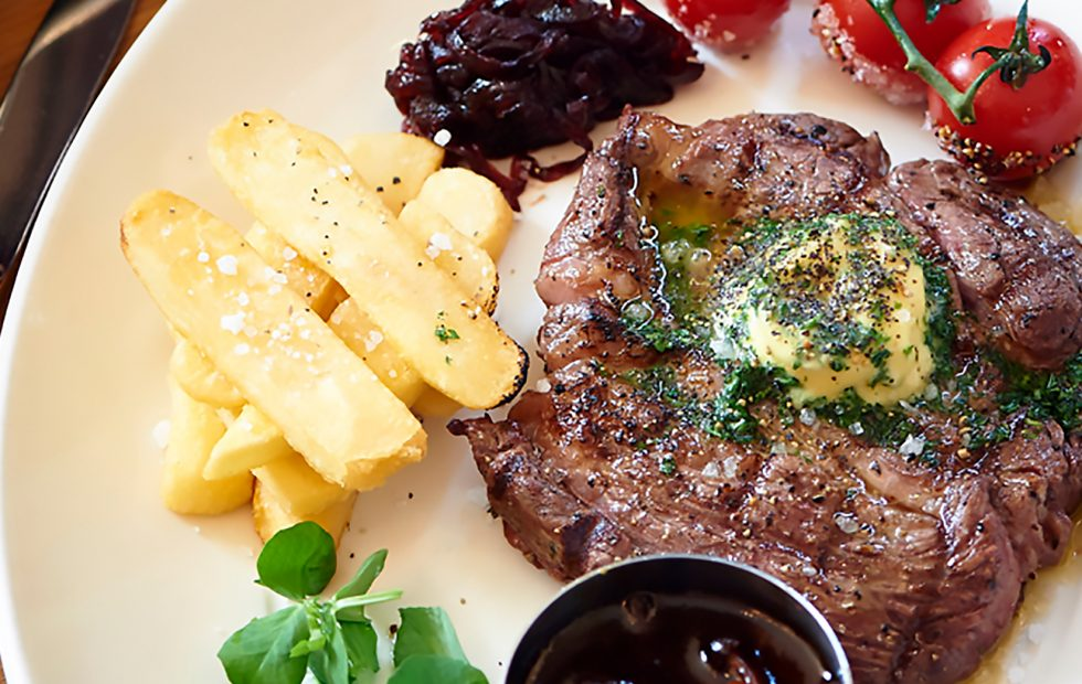 Feast on a premium-flavoured Angus beef rib-eye steak or burger at select Tsogo Sun restaurants
