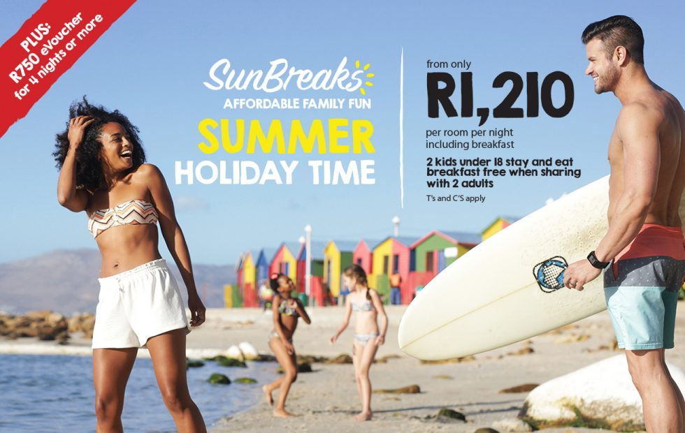 BOOK YOUR SUMMER HOLIDAY FROM R1,330 PER ROOM PER NIGHT