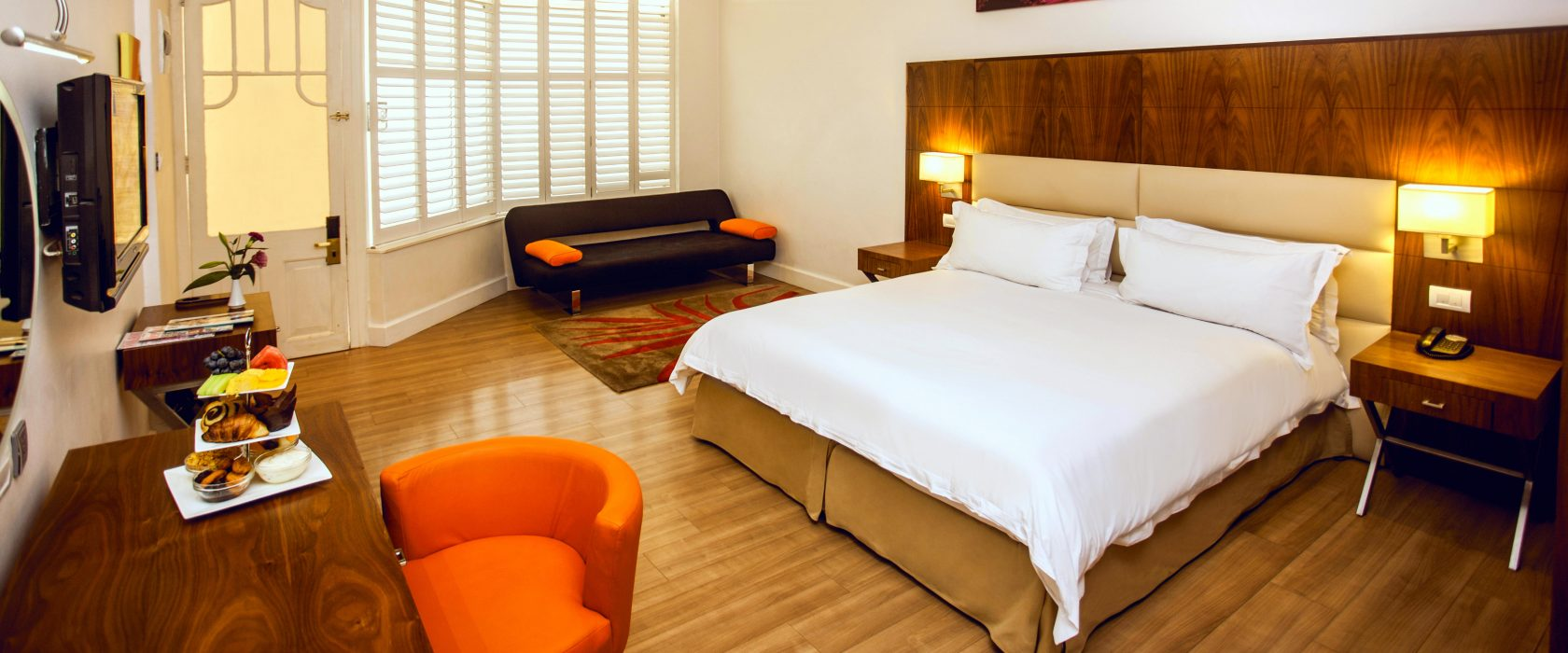 Gold Reef City hotel bedroom with a double bed