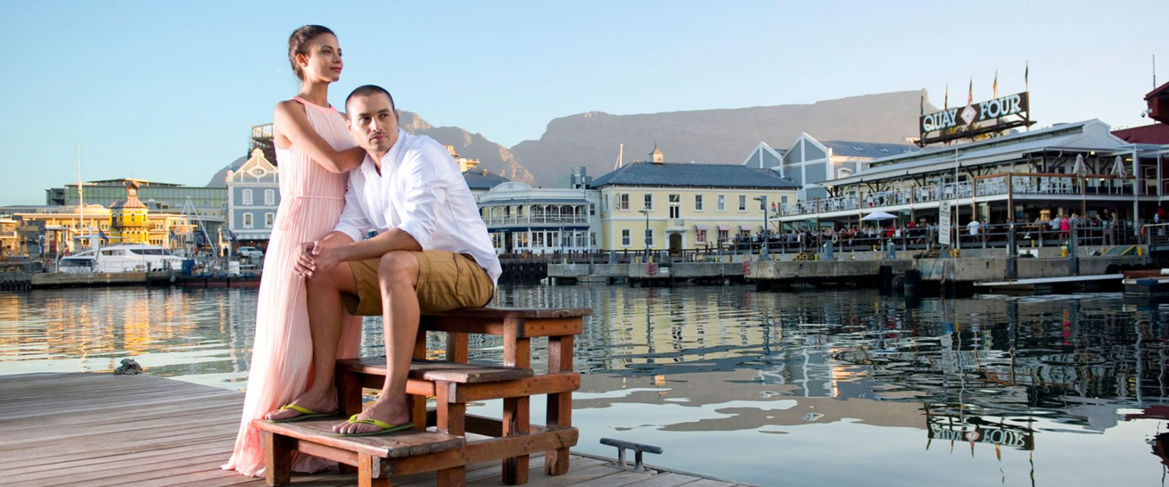 Couple at the Cape Town Waterfront