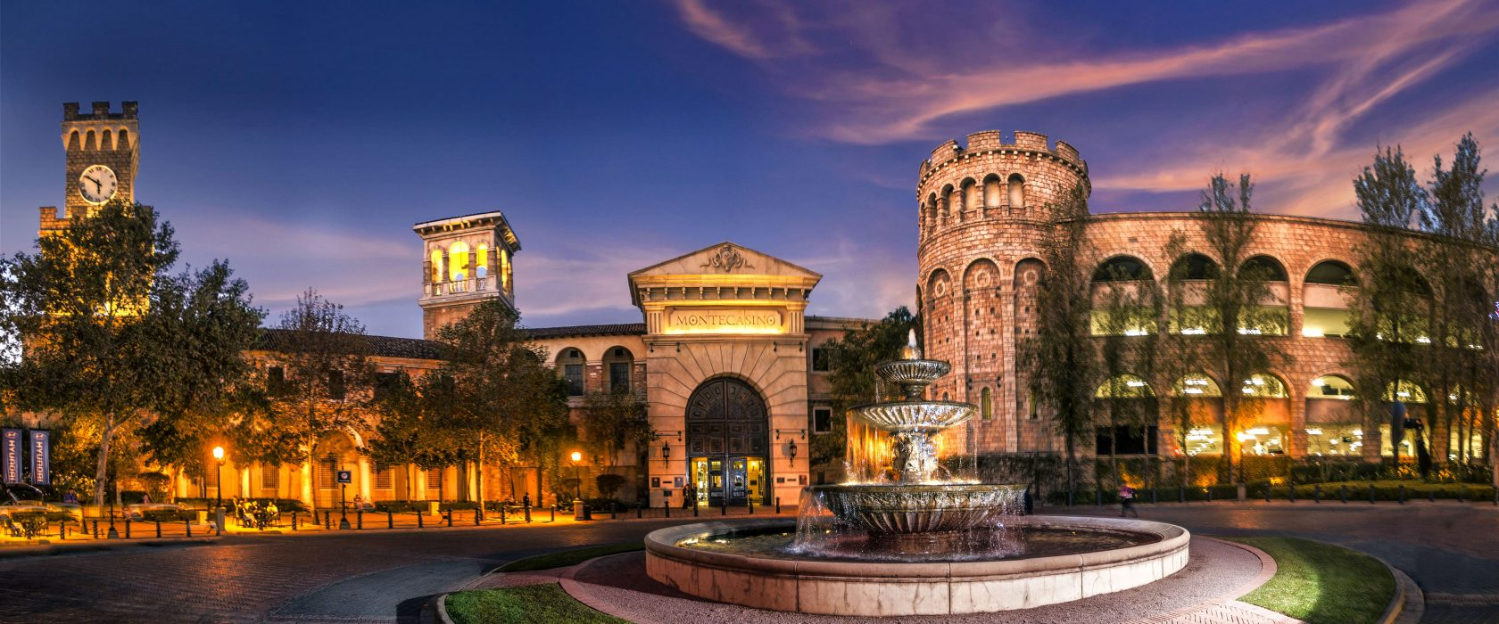 Exterior View Of Montecasino At Night