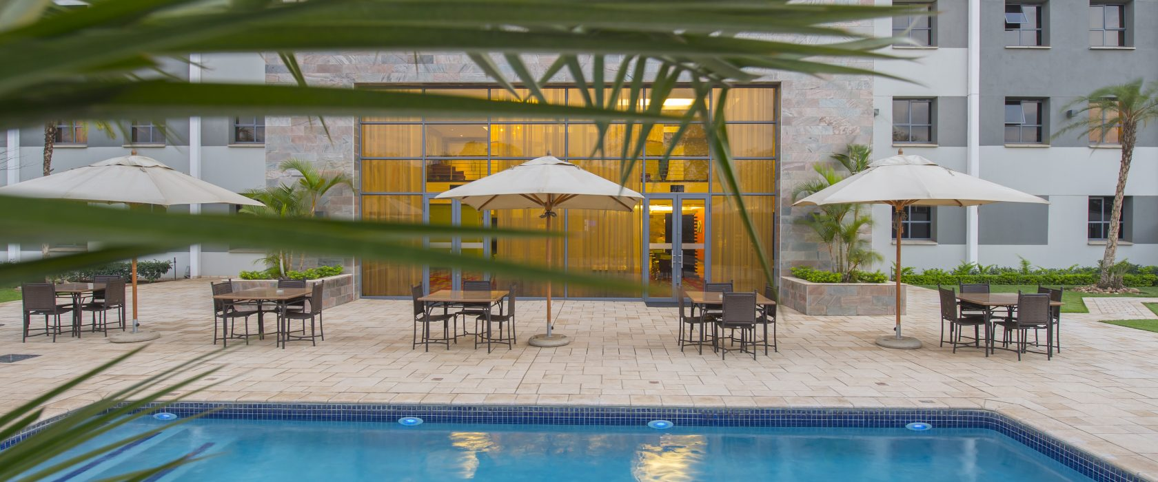 StayEasy Lusaka hotel pool area