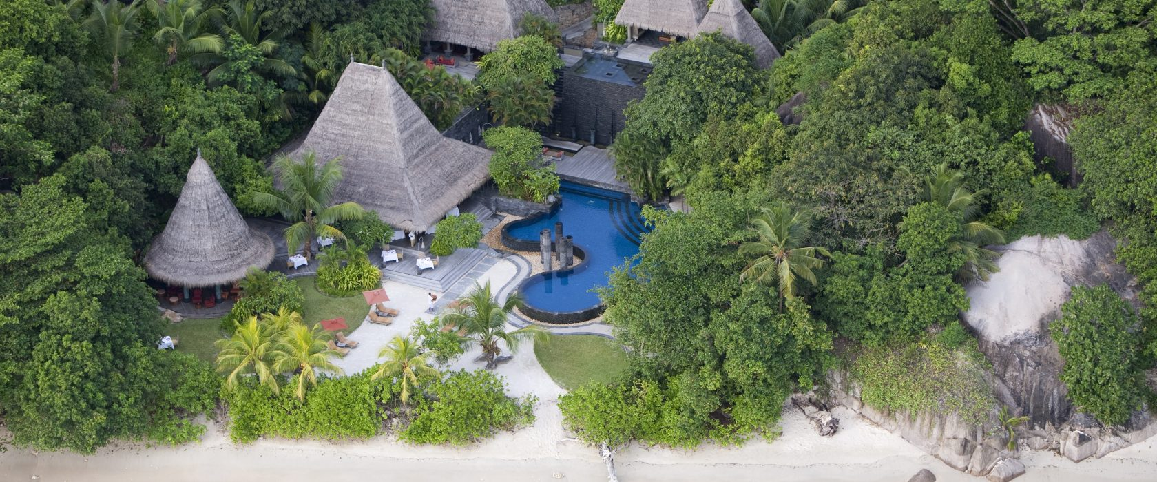 Aerial View Of Pool Bar And Restaurant