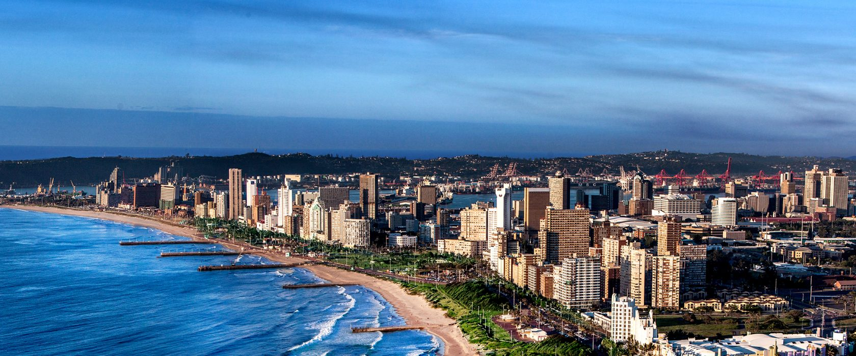 Durban Attraction Aerial View Of Durban Facing South