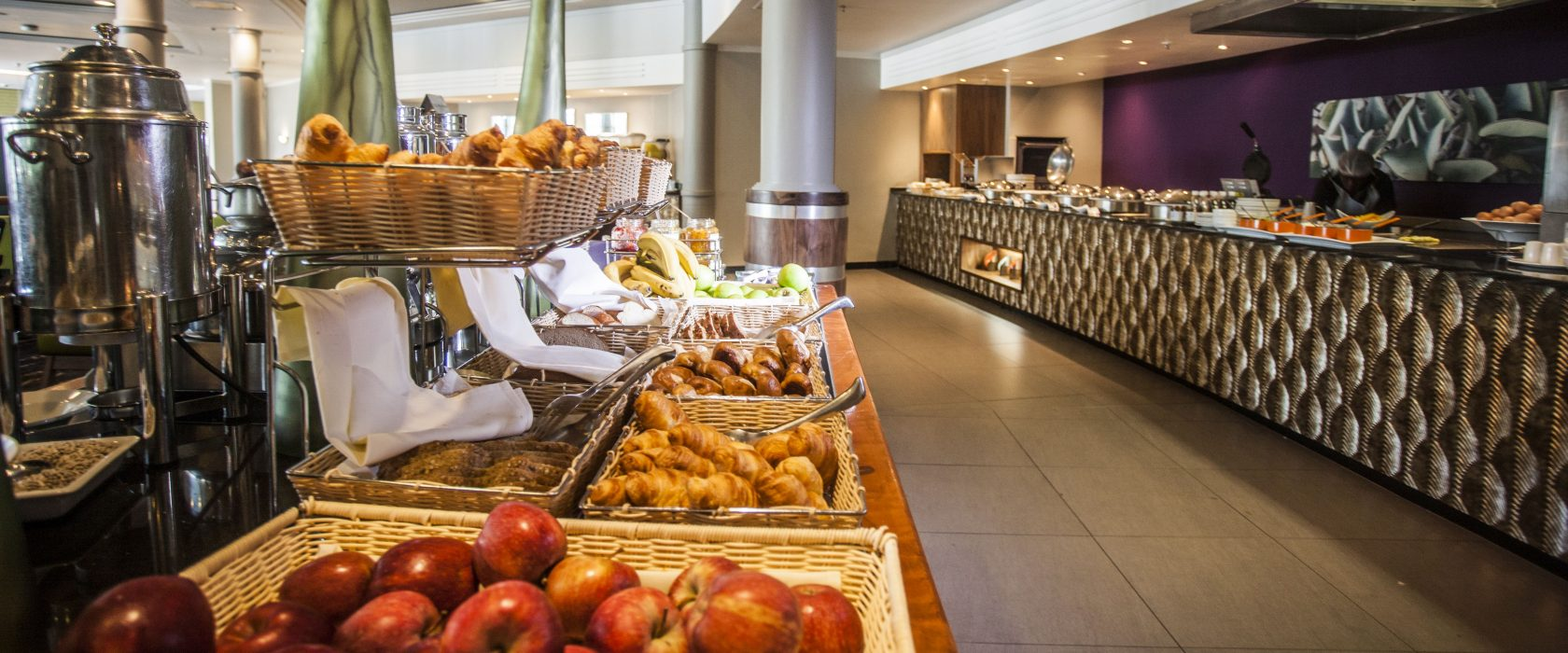 Wide selection of fruit and pastries at the Garden Grill Buffet