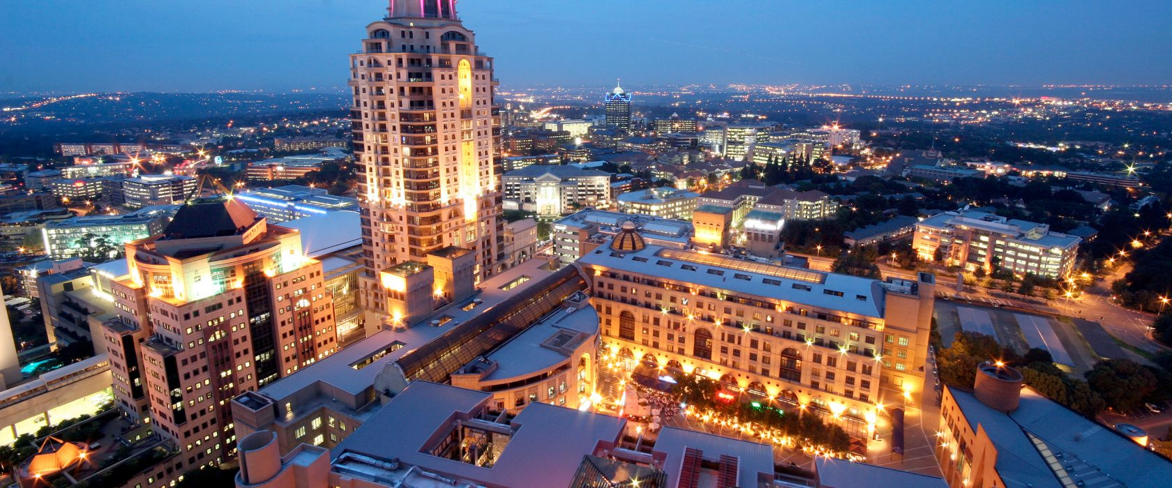 Aerial View Of Sandton Skyline