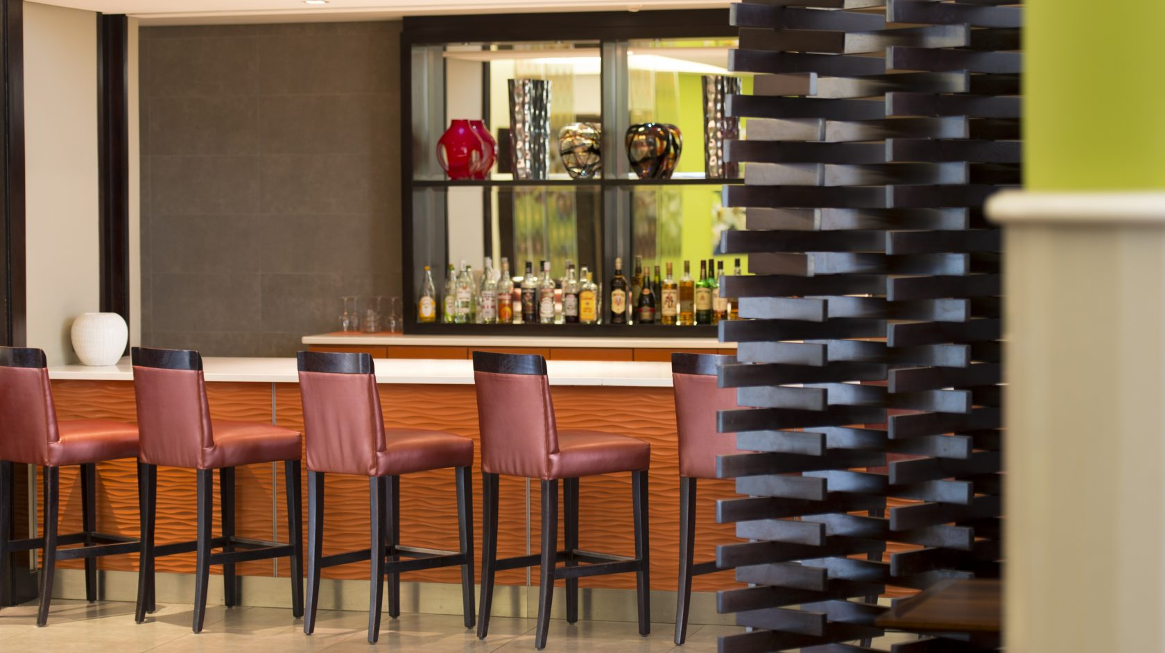 The bar at the StayEasy hotel Lusaka