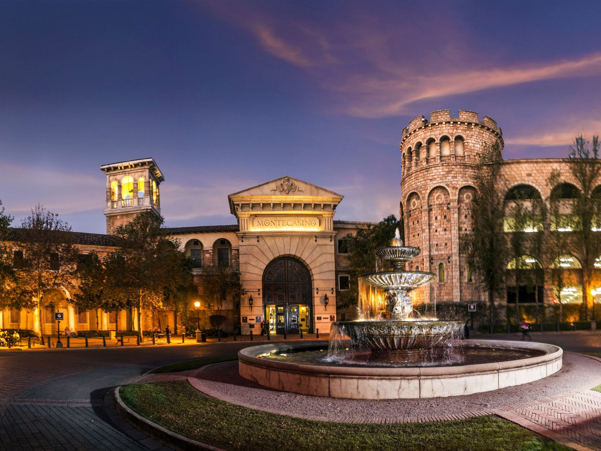 Montecasino entrance and fountain