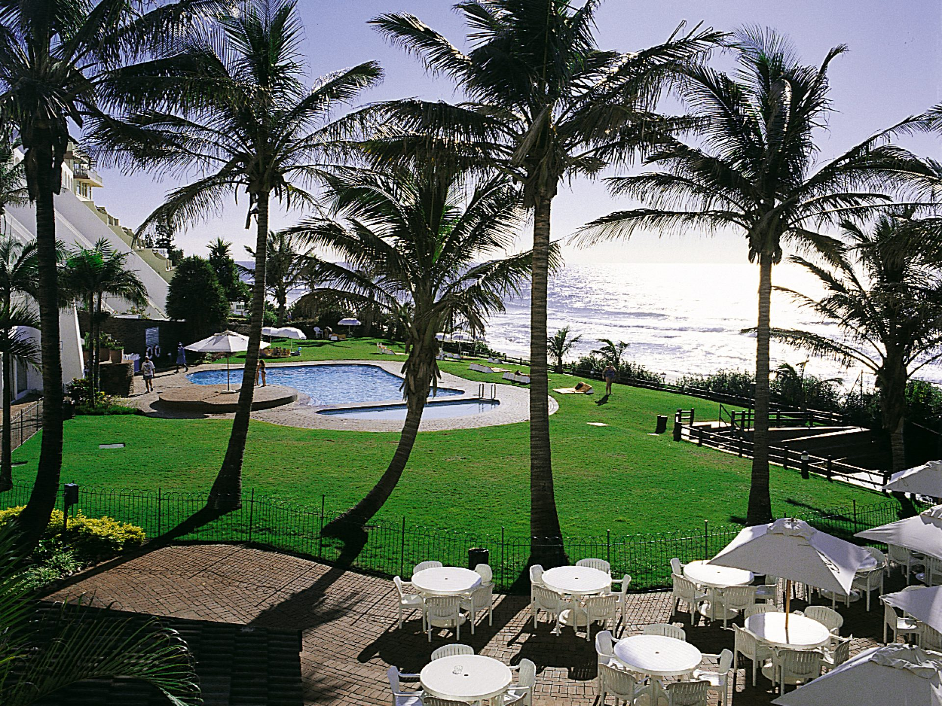 uMhlanga Sands Resort pool area and ocean view