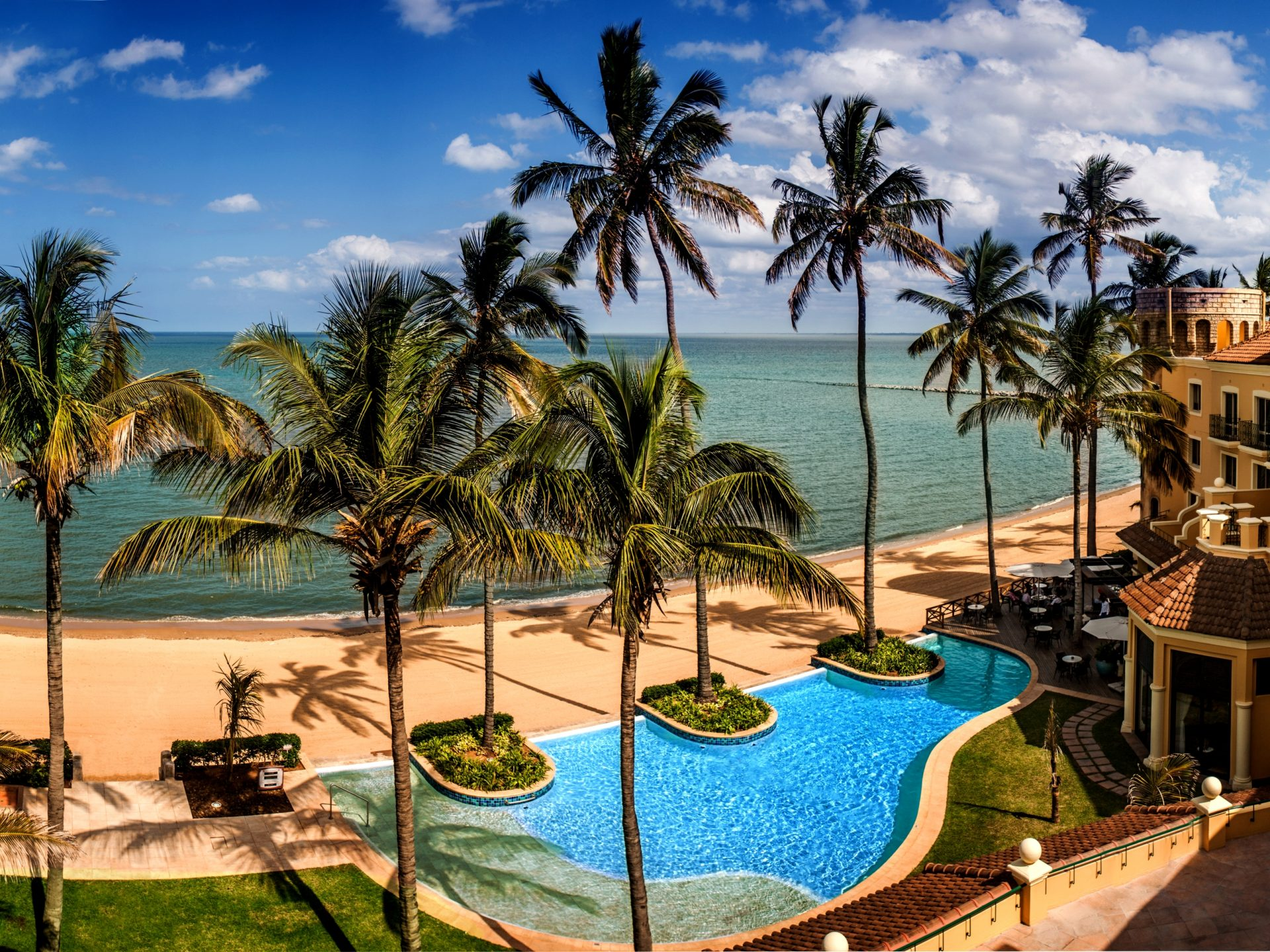 Panoramic View Of Hotel Southern Sun Maputo