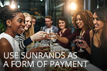 Business Rewards - Sunrands as a form of payment