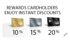 Rewards - Enjoy instant discounts