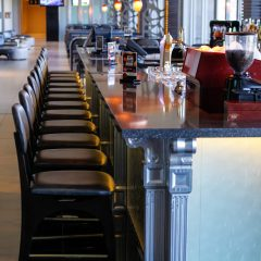 Bar Stools At The Bar Counter