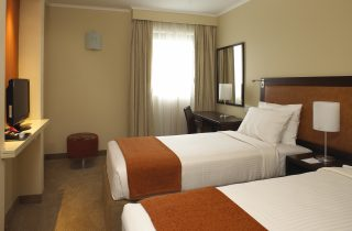A double room at the StayEasy hotel in Rustenburg