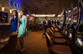 2 Woman On The Main Gaming Floor At The Slot Machines