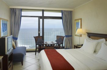uMhlanga Sands Resort bedroom with ocean view