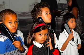 School Children Listening To A Museum Tour