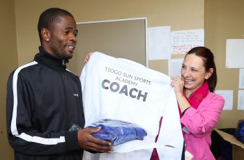 Tsogo Sun Sports Academy Coach Getting New Sportswear