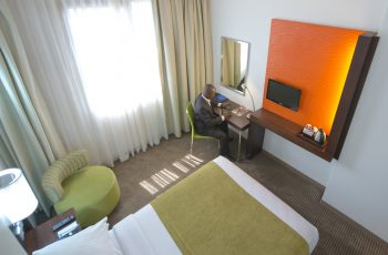 Standard room with double bed at the StayEasy hotel Lusaka