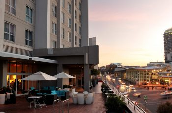 City view of Radisson Blu Gautrain in Sandton