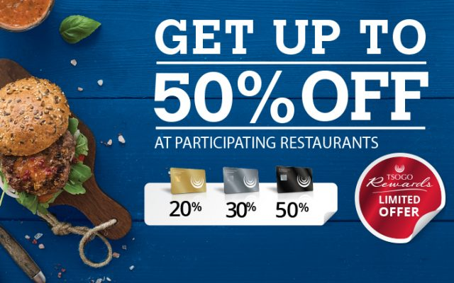 Eat Out For Up To 50% Less