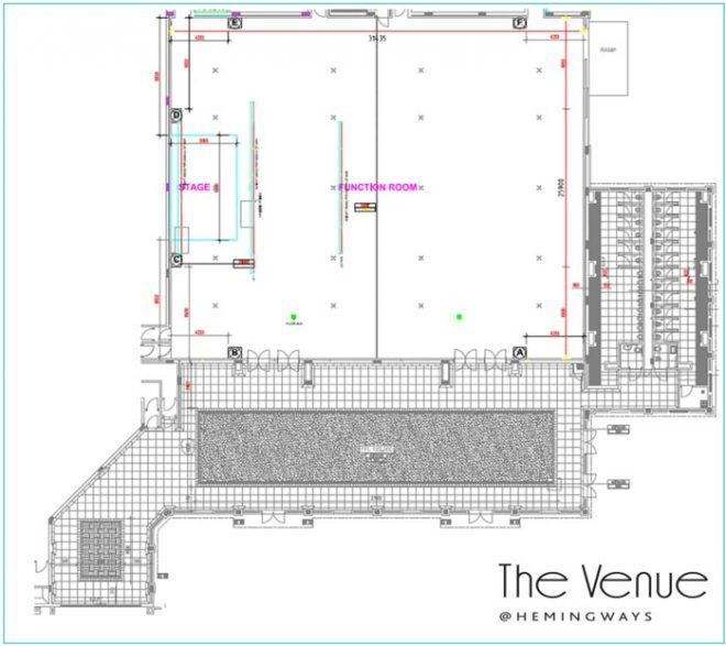 The Venue @Hemingways casino sketch floor plan