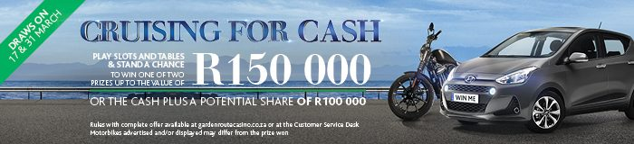 Cruising For Cash Promotion at Garden Route Casino