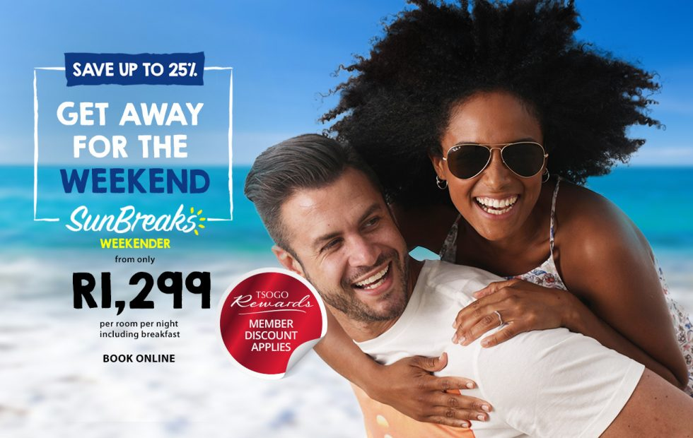Enjoy a weekend break from R1,299