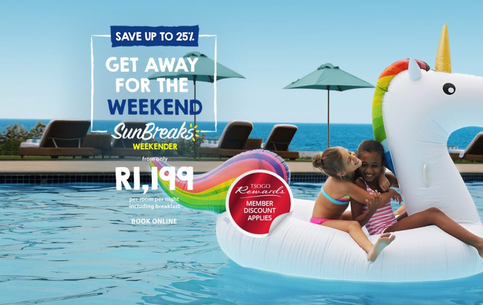 Enjoy a weekend break from R1,199
