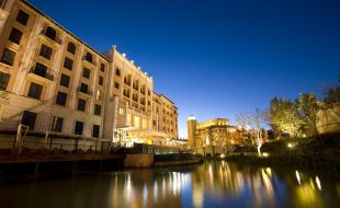 Southern Sun Montecasino exterior by night