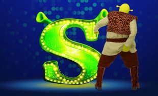 Shrek The Musical banner at Gold Reef City casino