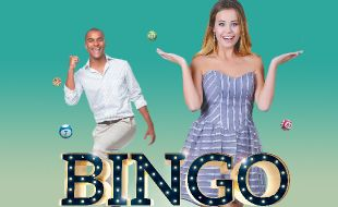 A lady and man excited on the gaming promotion banner called Bingo