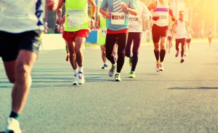 Athletes Running the Comrades Marathon