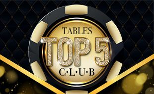 Tables Top 5 Club at Suncoast during September 2017