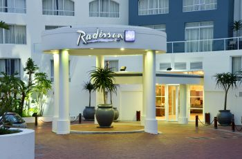 Exterior view of Radisson Blu situated in Cape Town, Western Cape