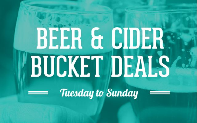 Beer & Cider Bucket Deals