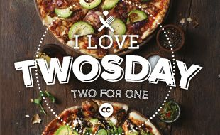 Two For One Pizza's on Tuesday's!