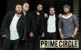 Prime Circle in black and white outfits with a dark background