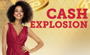 Cash Explosion event banner at Goldfields Casino