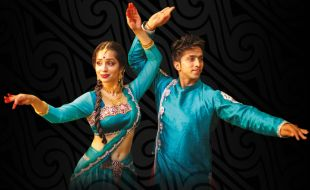 Couple on the cover dancing on the Kathak Rockers SA event poster at Gold Reef City