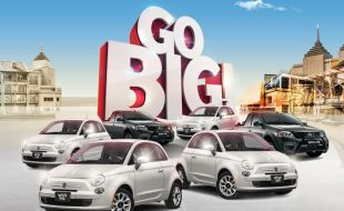 Four Fiats and other cars on the Go Big gaming Promotion