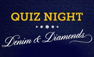 Quiz Night event banner theme Denim & Diamonds