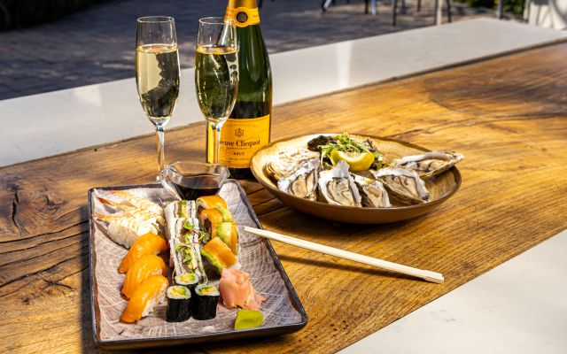 Champagne & Sushi or Oysters