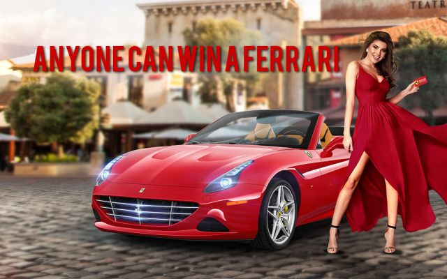 Anyone can win a Ferrari!